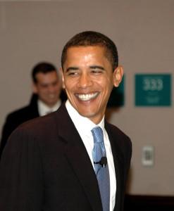 Candidato democratico alle elezioni americane Barack Obama