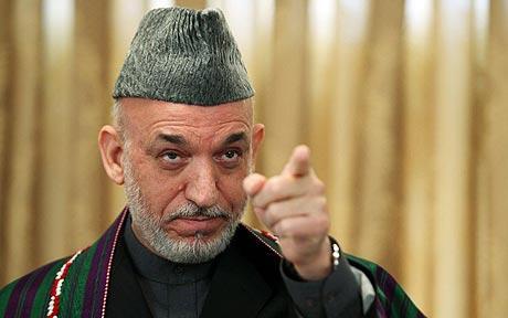 afghanistan karzai verso washington