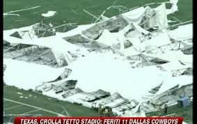 crolla tetto stadio dallas cowboys