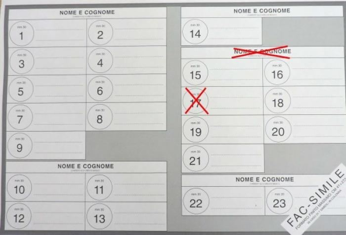 come si vota, esempio di voto sindaco e lista