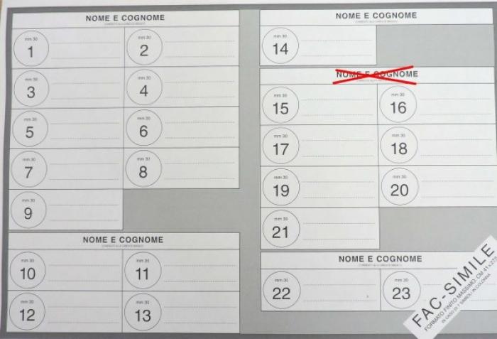 come si vota, esempio di voto solo sindaco