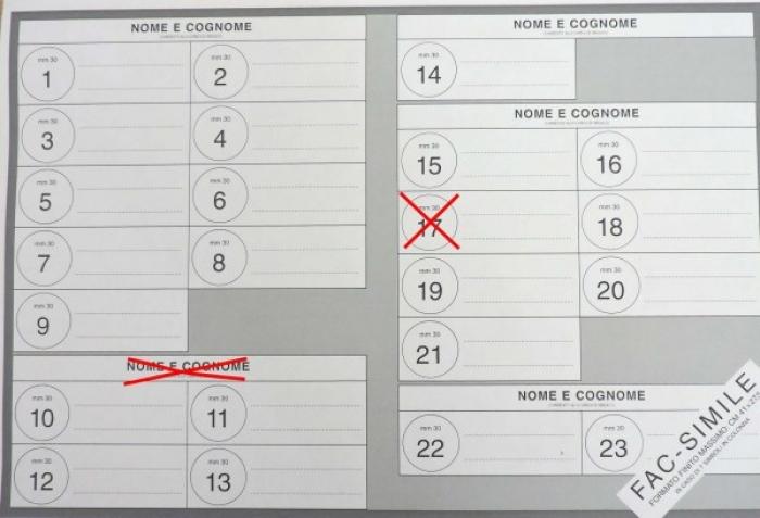 come si vota, esempio di voto sindaco e lista disgiunti