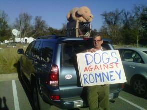 un cane e il consenso si romney