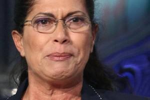 Rosy Mauro della Lega Nord in lacrime