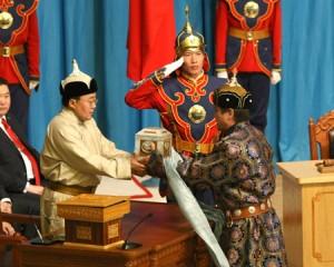 Lo scambio di consegne presidenziali del 2009, mongolia