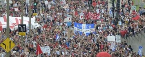 Quebec protesta giovanile