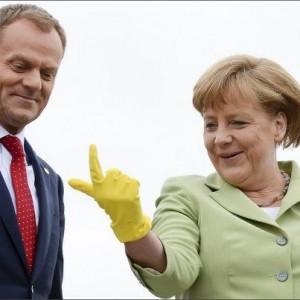 Angela Merkel ed il primo ministro polacco Donald Tusk lo scorso maggio