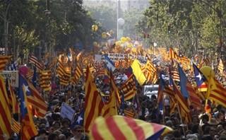 Manifestazione Catalogna