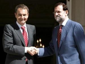 Zapatero e Rajoy