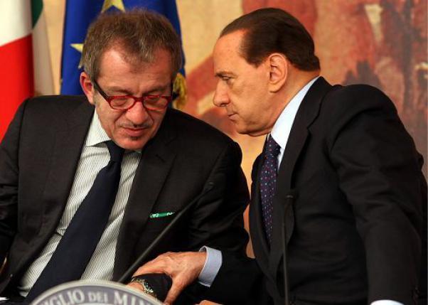 Silvio Berlusconi e Roberto Maroni
