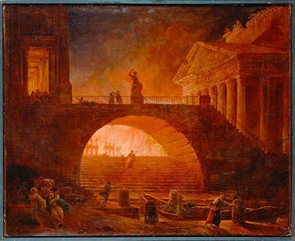 incendio a roma
