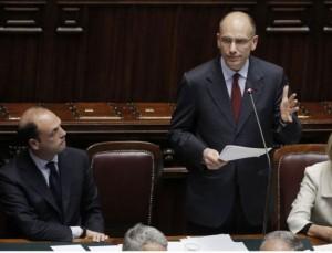 senato fiducia governo letta alfano
