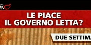 Sondaggio Ipsos per Ballarò, fiduca nel governo letta.