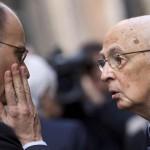 Napolitano e Letta