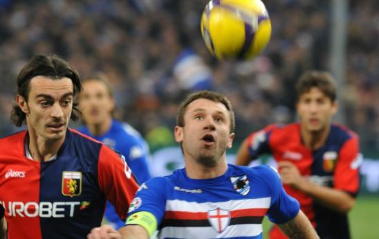 Antonio Cassano ai tempi della Sampdoria
