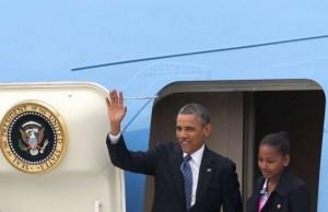 obama arrivo a belfast g8