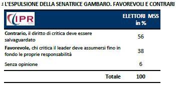 Sondaggio IPR per Tg3, espulsione di Adele Gambaro.