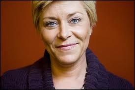 Siv Jensen, leader del Partito del Progresso