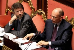 dl fare governo pone fiducia franceschini letta