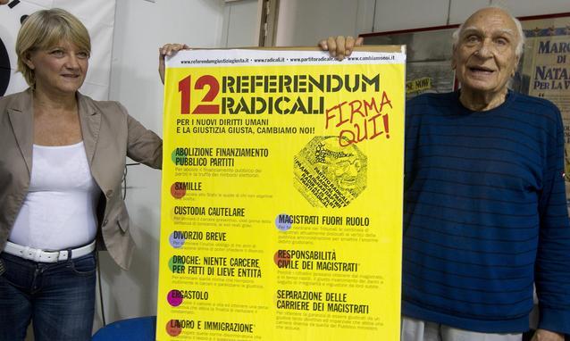 battaglia referendum radicali sulla giustizia