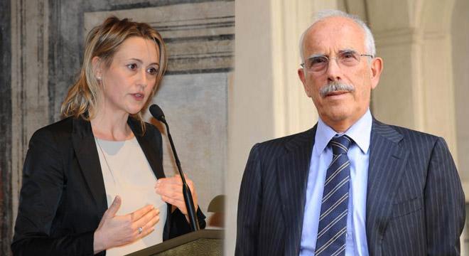 Deborah Bergamini e Carlo Dell'Aringa