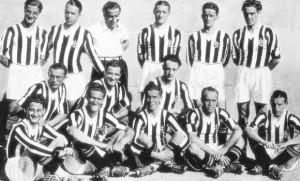 Un'immagine della Juventus del quinquennio d'oro 1930-35