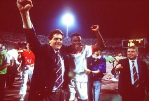 Capello e Desailly in trionfo nella finale di CL del '94