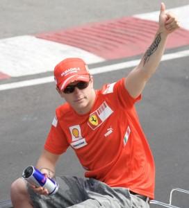 Kimi Raikkonen campione del Mondo nel 2007 con la Ferrari