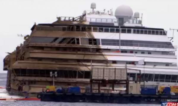 Costa Concordia, rotazione-riuscita