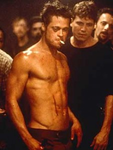 "Brad Pitt in una scena di ""Fight Club"""