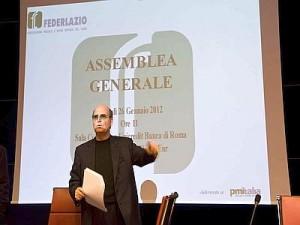 Maurizio Flammini, presidente Federlazio