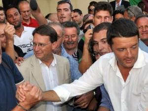 Renzi tra i militanti del Pd