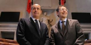 Il governatore del Lazio Nicola Zingaretti e il sindaco di Roma Ignazio Marino