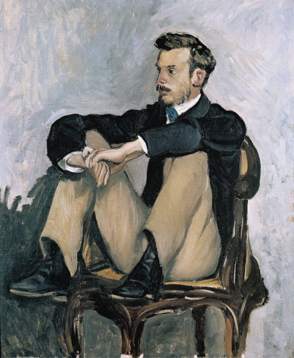 Bazille - Ritratto di Renoir (1867)