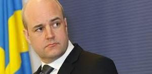 Il premier svedese Fredrik Reinfeldt