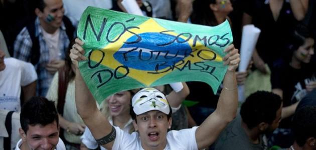 brasile proteste degli insegnanti e scontri