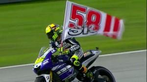 Valentino Rossi così ha voluto ricordare il Sic