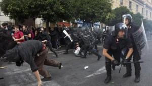 guerriglia nel centro roma
