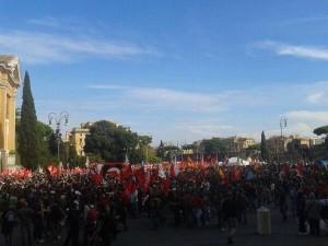 roma manifestazione da piazza san giovanni 19 ottobre 2013
