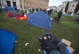 roma presidio manifestanti a porta pia