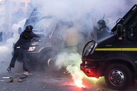 scarcerati manifestanti roma