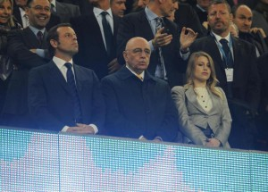 Galliani e Barbara Berlusconi al Camp Nou