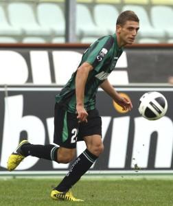 Domenico Berardi, cannoniere del Sassuolo, contro l'Atalanta ha segnato la settima rete in campionato.