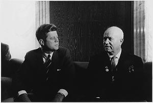 JFK e il leader sovietico, Nikita Khruschev