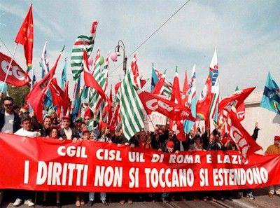 Sciopero dei sindacati