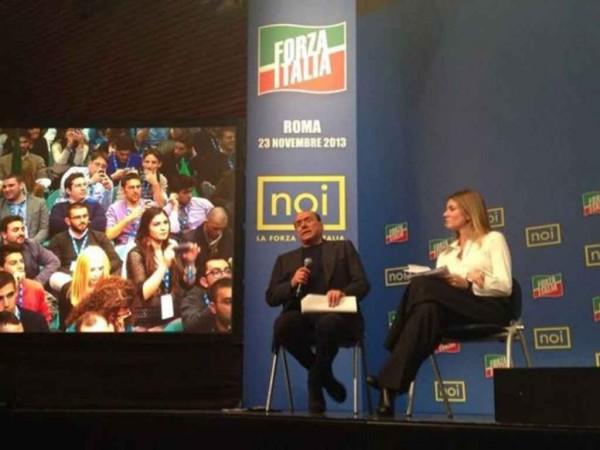 decadenza Forza Italia in piazza, Berlusconi