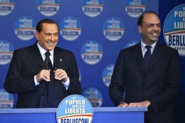 Alfano e Berlusconi ai tempi del Pdl