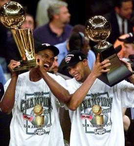 Il primo titolo con gli Spurs nel 1999
