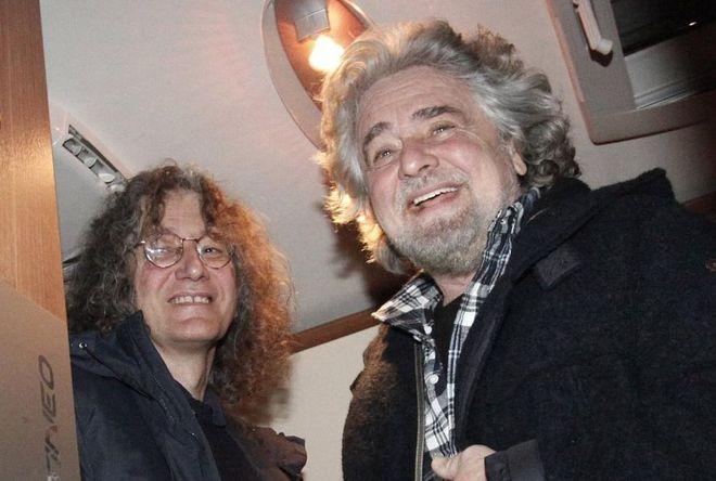 Grillo e Casaleggio, fondatori del M5S