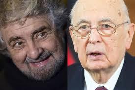 "Beppe Grillo ""Larghe intese colabrodo, Napolitano collante"""